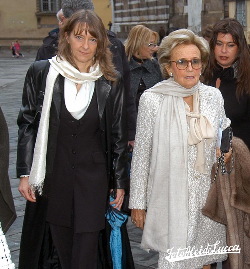 Lia con la signora Bernadette, moglie del ex Presidente della Repubblica Francese Jacques Chirac