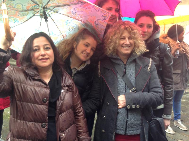 Anna con l'attrice Angela Finocchiaro