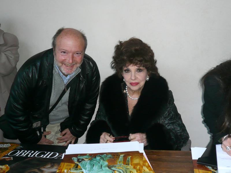 Gabriele con l'attrice Gina Lollobrigida