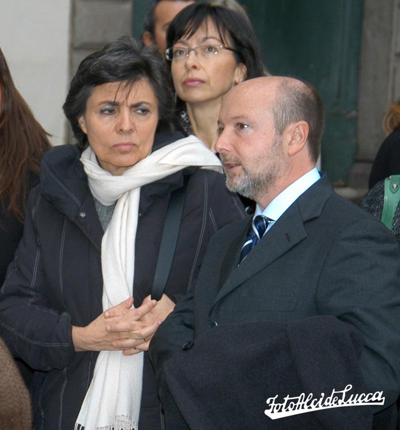 Gabriele con la signora Flavia, moglie del ex Presidente del Consiglio Romano Prodi