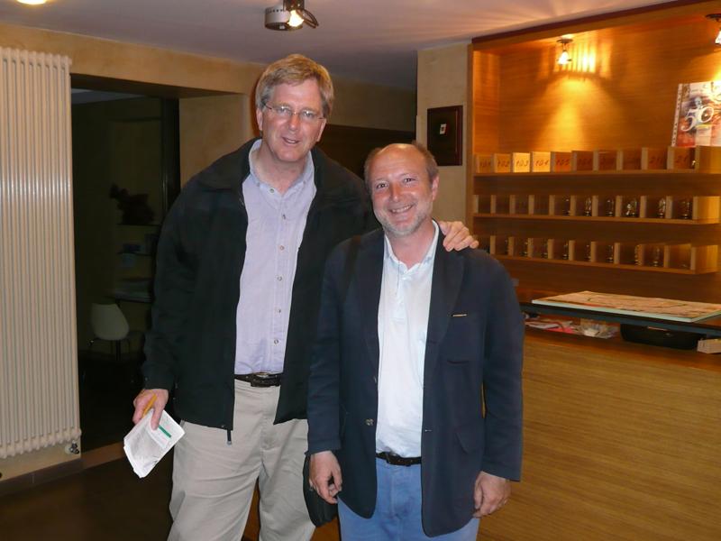 Gabrile con lo scrittore di viaggi Rick Steves