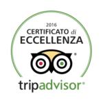 Certificato eccellenza Tripadvisor 2016