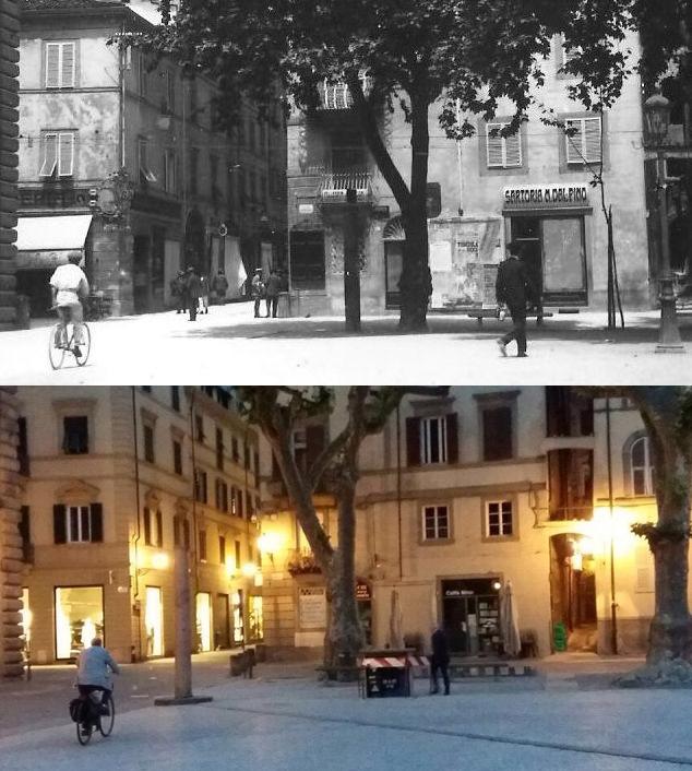 Piazza Napoleone ieri e oggi