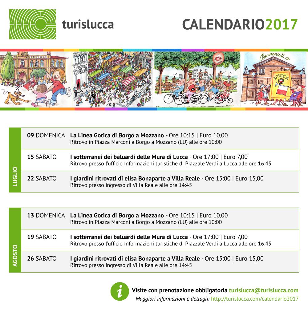 Calendario 2017 - luglio/agosto