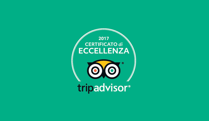 Trip Advisor - certificato di eccellenza 2017