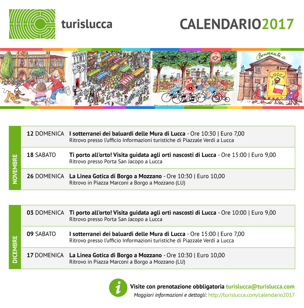 Calendario novembre e dicembre 2017