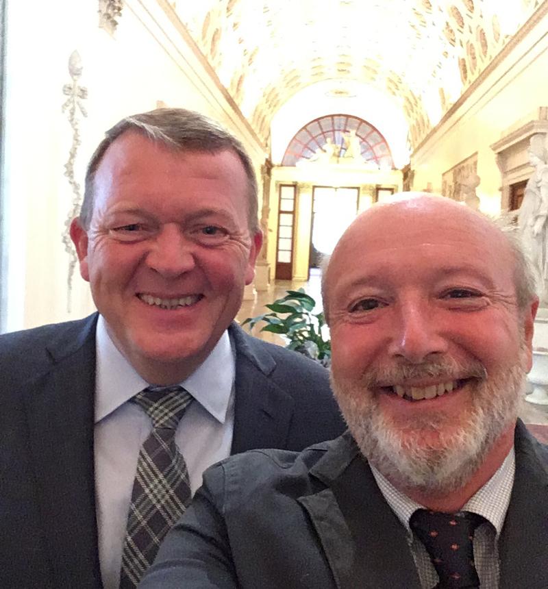 Gabriele con Lars Løkke Rasmussen