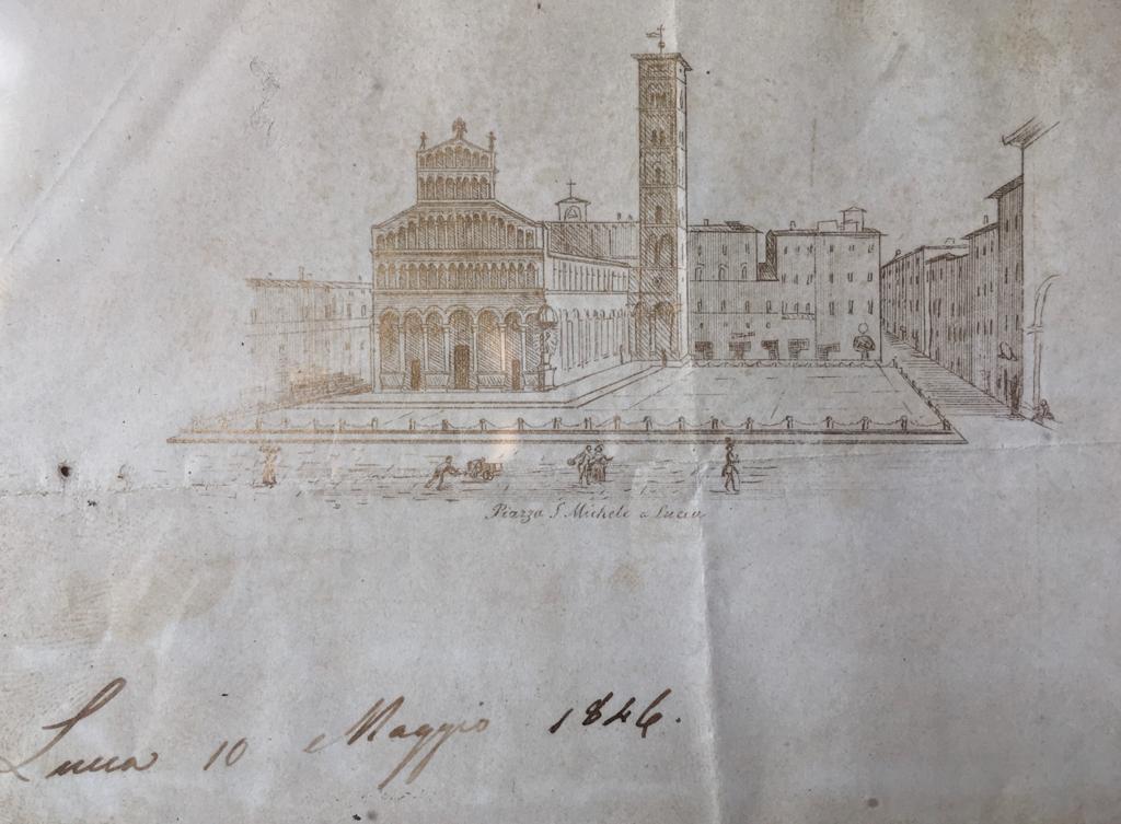 Stampa inedita Piazza San Michele