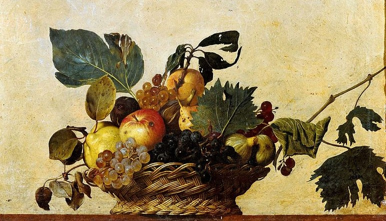 dipinto Canestra di frutta di Caravaggio