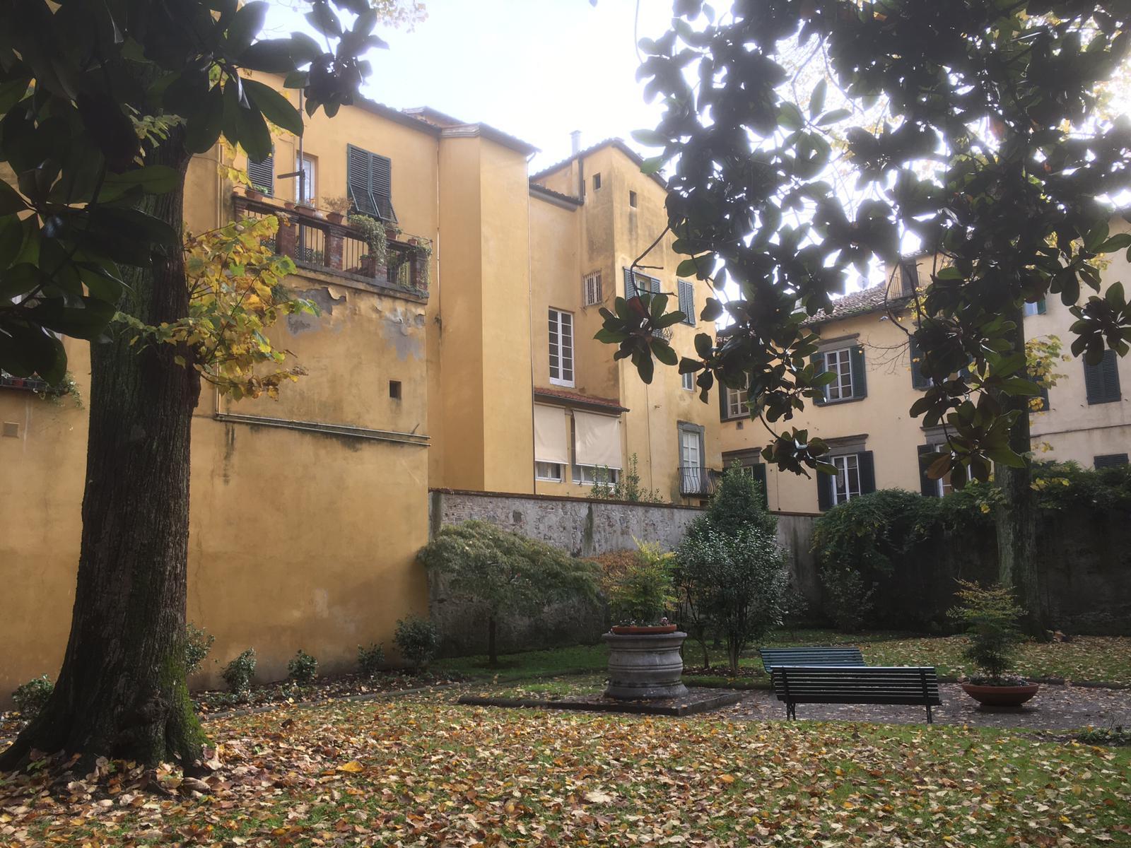 Giardino di fronte a Palazzo Orsetti